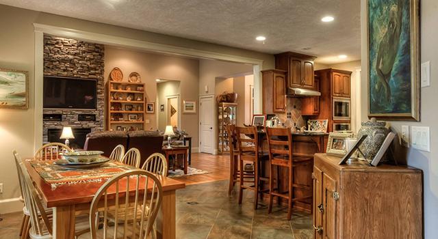 Custom Built Home Living Space